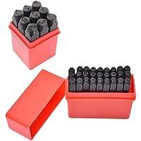 Sharplace Estampillas de Números Alfabeto Cartas de Artesanía Herramienta de Cuero Metal Sacador 5mm