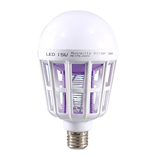 wildlead E2715W 2en 1Bug Zapper LED Bulb Mosquito Killer Lamp Pest Control Light Bulb