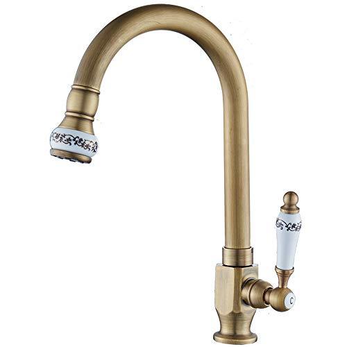 ZHENDIQ Einhebel-Wasserhahn, Heiß- und Kaltwaschbecken, Heimdekoration, Küchenarmatur, Waschbecken Golda