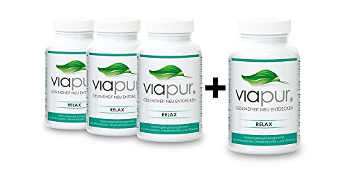 viapur® RELAX, Aminosäuren, Mineralstoffe und Vitamine, 3 Dosen + 1 Dose Gratis, ausreichend für 4 Monate