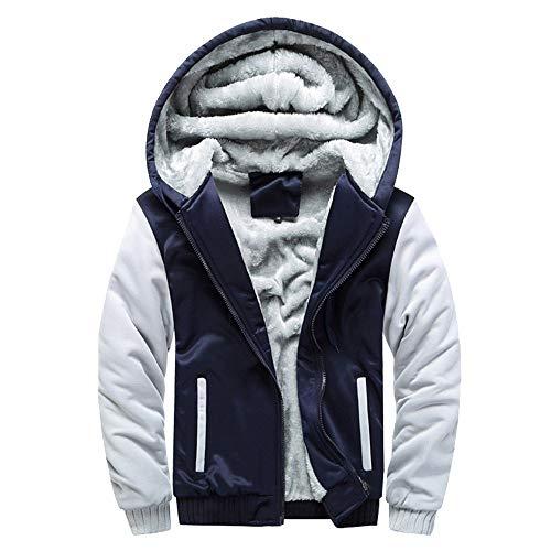 Internet Homme Hiver Cuir Hiver Chaud Sweat Capuche Manteau Veste Pull Sweatshirt Veste à Glissière Veste Zippée Manteau Polaire Chaud S 4XL Manteau à