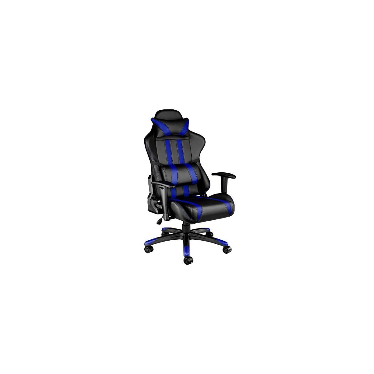 41eahxosNZL. SS1200  - TecTake Silla de oficina ergonomica racing gaming con soporte lumbar - disponible en diferentes colores -