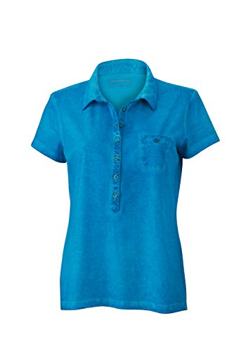 Maglietta polo trendy in look moderno Ladies' Gipsy Polo Turquoise