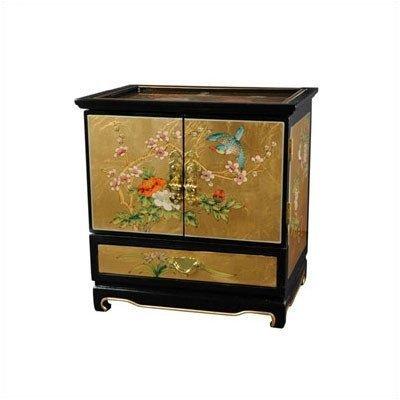 Oriental Furniture Empress Lacquer Jewel Box (Gold Leaf) by Oriental Furniture