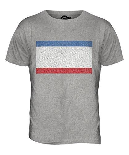 CandyMix Krim Kritzelte Flagge Herren T Shirt Grau Meliert