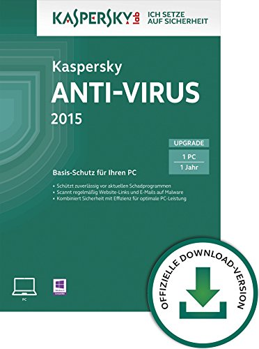 Kaspersky Anti-Virus 2015 Upgrade - 1 PC [Download]