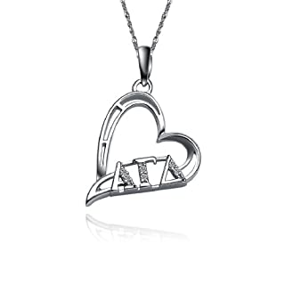 Greek Star Alpha Gamma Delta Necklace with a 18