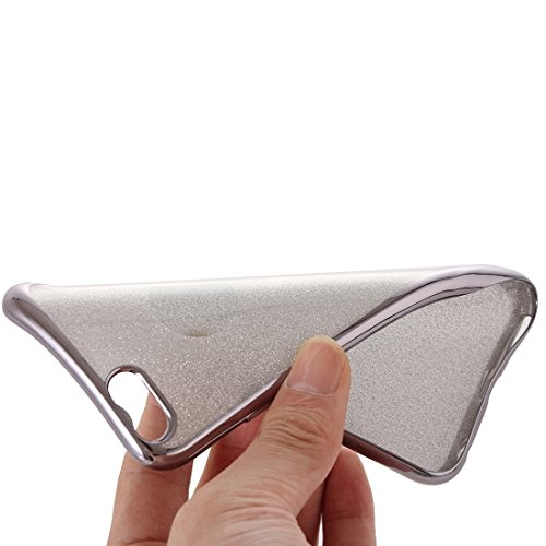 Wkae Case & Cover Housse de protection Electroplating flash poudre TPU pour iPhone 6 Plus &6s plus ( Color : Silver ) Grey