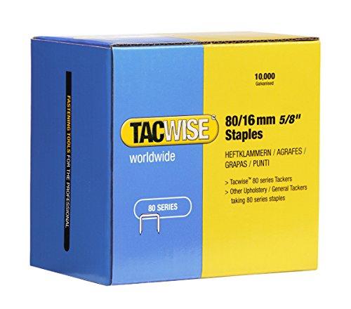 Tacwise 1141 Boîte de 10000 Agrafes galvanisées 16 mm Type 80