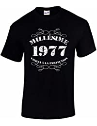 T-Shirt Anniversaire Homme 40 Ans Millésime 1977