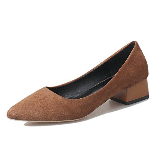 Grobe Frühjahr Mode lässige Damenschuhe/Spitzen Wildleder Schuhe Asakuchi Fuß/Schuhe für Damen D