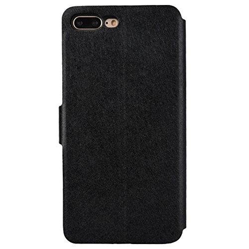 Coque iPhone 6s 6, dexnor Coque Apple iPhone 6S 6étui en cuir flip Case bande de soie Portefeuille PU + PC Rigide Bumper Back Cover Wallet Case avec Slot Porte cartes de crédit, fermeture magnétique  noir
