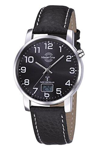 Master Time Funk Quarz Herren Uhr Analog-Digital mit Leder Armband MTGA-10576-24L