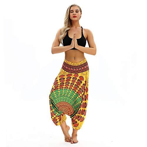 hahashop2 Laufhose Damen - Leggins Stretch-Hose Lauf-Tights für Schlüssel Yoga Haremshose Männer und Frauen verlieren zwei tragen große Hosen Hosenoverall Yogahosen -