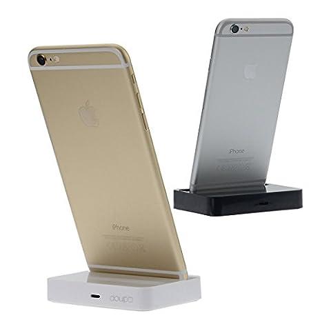 doupi® Dock station d'accueil iPhone 7 / Plus, 6 6S / Plus iPhone 5 5C 5S SE iOS 9 Chargeur Données transmission titulaire -