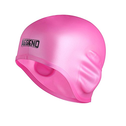 Aegend Badekappe, wasserdichte Schwimmen Hut für Erwachsene Männer Frauen Silikon Bequeme Badekappen Hüte für lange Haare kurze Haare (Silikon Badekappe Für Frauen)
