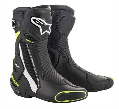 Alpinestars - Stivali Moto SMX Plus V2 Boots Black White Yellow Fluo - 45