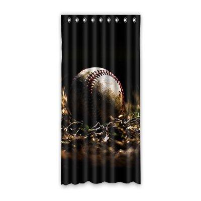 "Dalliy Baseball Fenstervorhang Vorhang Window Curtain Polyester 52""x108""about 132cm x 275cm(One piece)"