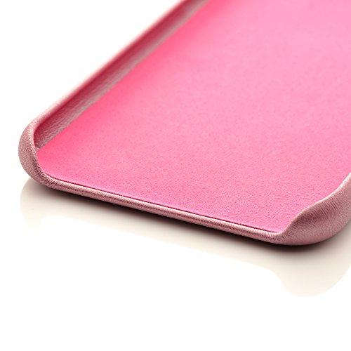 iProtect Kunstleder Schutzhülle Apple iPhone 7 Plus, iPhone 8 Plus flexibles Case in Dunkelblau Rosa