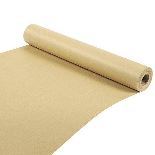 Rouleau de papier kraft- 30,5mètre - Papier brun - Pour les créations artistiques, les bricolages, les emballages cadeau, les envois postaux - 44,5cm x 3048cm