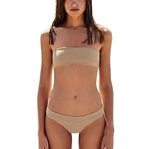 MA87 Frauen Textur Bikini – Push – Up – Pad Badehosen Baden Badeanzug Beachwear Setzen