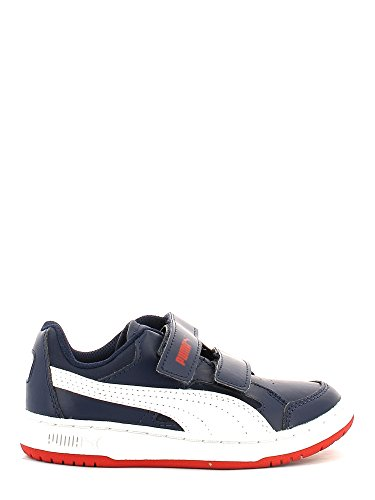 Puma , Baskets pour garçon - Peacoat-white-hig risk red