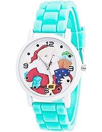 LILICAT® Relojes de Cuero de Navidad de Cuarzo, Reloj analógico de Pulsera de Cuero
