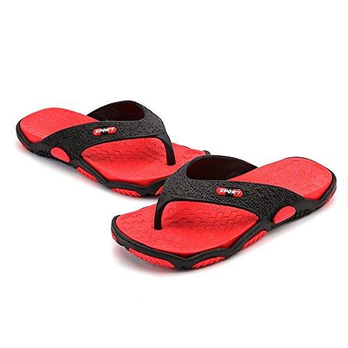 ZHANGRONG-- Slipper in gomma da uomo, comoda scarpetta da spiaggia, antiscivolo ( Colore : C ) B
