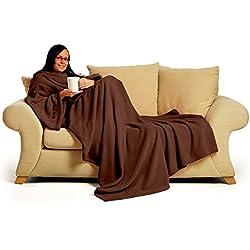 Snug-Rug DELUXE Adult - Batamanta, 100% poliéster, 152cm x 214cm, color chocolate