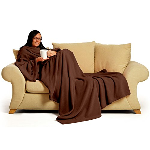 Snug-Rug DELUXE Adult - Batamanta, 100% poliéster, 152cm x 214cm, color chocolate