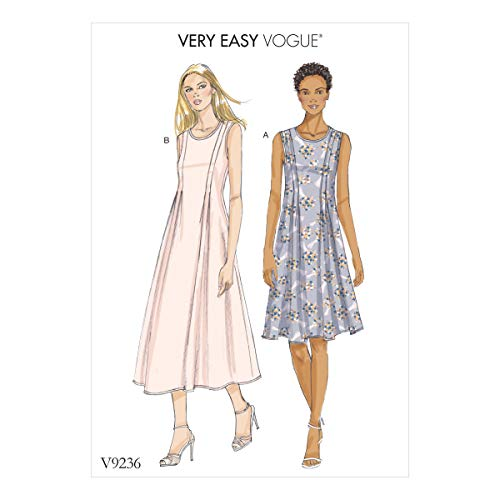 Vogue Patterns Medium Poids Lin Robes, Multicolore, Tailles 14-22