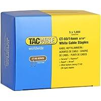 Tacwise 0357 - Grapas CT60/14mm para la intalación de la mayoría de tipo de cables domésticos, caja de 5000