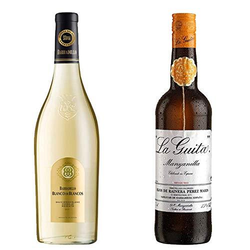 Blanco De Los Blancos Y Manzanilla La Guita - Vino Blanco Y D. O. Manzanilla De Sanlúcar De Barrameda - 2 Botellas De 750 Ml