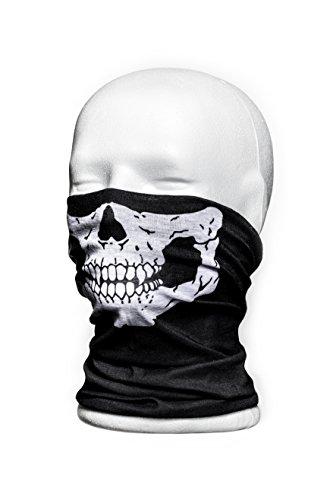Hochwertiges Multifunktionstuch Totenkopf Maske - Sturmmaske - Gesichtsmaske für Motorrad - Paintball - Wandern - Skifahren - Radfahren im Winter Harley Davidson Baby Mütze