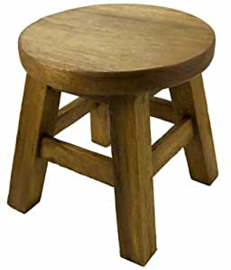 Stool for child wooden small plain kitchen - Amazon bedroom chairs and stools ...