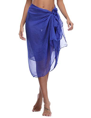 Sykooria Sarong Bikini Cover Up Strandrock Damen Weich Komfortabel Schimmen Urlaub Multifunktions Wickelkleid lila -