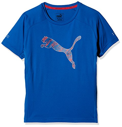 PUMA Kinder Rapid Graphic Tee T-Shirt, Lapis Blue, 164 (Mädchen-tee Blaue)