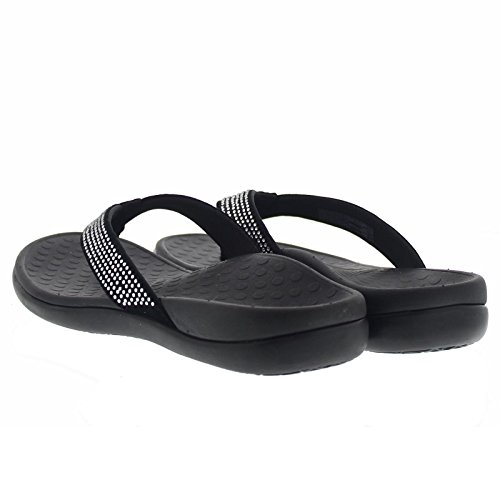 Vionic Womens IN340 Islars Leather Sandals Black