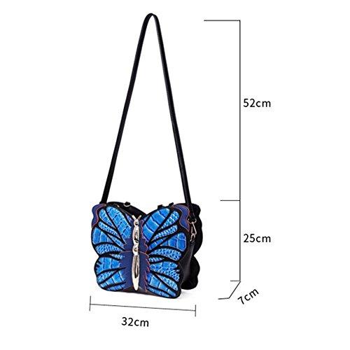 Schmetterling Schulter Handtasche Messenger Bag Puzzle Dreidimensionale Tasche yellow