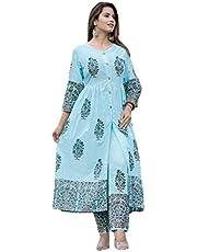 GoSriki Women's Princess Cut Salwar Suit Set