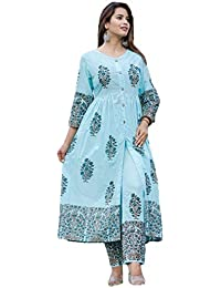 GoSriki Women's Princess Cut Salwar Suit Set