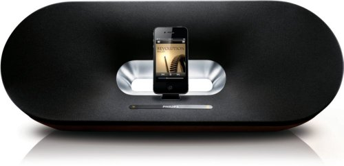 Philips DS9000/12 Fidelio Primo Docking-Lautsprecher (für iPad/iPhone/iPod, Umgebungssensor, Holzgehäuse)