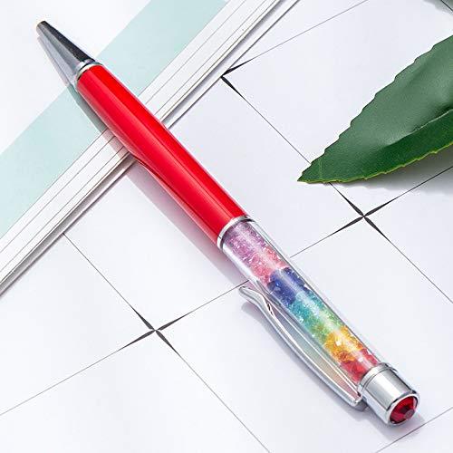 10 Bunte Diamant Kristall Gold Glitter Kugelschreiber Diamant Strass Stift mit Top Diamant Druckkugelschreiber 14,1x1 cm * (1 mm) -