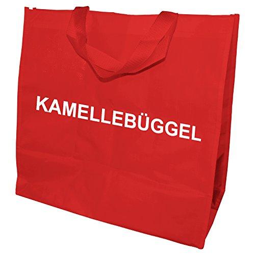 Kamellebüggel - Kamellebeutel für Wurfmaterial Tasche für Karneval, Fastnacht, Fasching (Rot)
