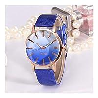 New Hot Kleurrijk Leuk Geneva Watches Ladies Watch Women Quartz Studenten Horloge for Girl Kinder Giften (Color : Blue)