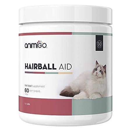 Animigo Anti Haarball Hilfe für Katzen – Natürliche Inhaltsstoffe für eine gesunde Verdauung & zur Vorbeugung von…