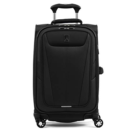 """Travelpro Luggage Maxlite 5 21"""" Lightweight Expandable Carry-on Spinner Suitcase, Black"""