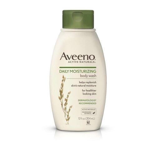 Aveeno Daily Moisturizing Body Wash 12 Oz (4 Pack) by Aveeno