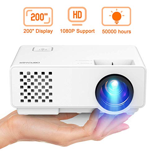 DBPOWER Mini Beamer, 2000 Lumen HD 1080P LED Video Projektor mit 176