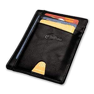 Porta Carte di Credito Uomo Slim in Pelle Protezione RFID, Portafoglio Uomo Piccolo Sottile, Idee per Regali Originali… 9 spesavip